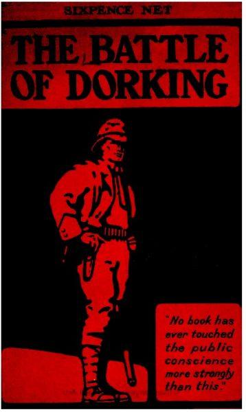 """Okładka """"Bitwy pod Dorking"""" Chesneya z 1914 roku."""