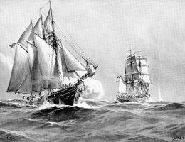 Chociaż minęło wiele dekad od ostatniej bitwy okrętów napędzanych wiatrem, to fakt ten nie powstrzymał marynarki wojennej Cesarstwa Niemieckiego przed skierowaniem do walki żaglowca.