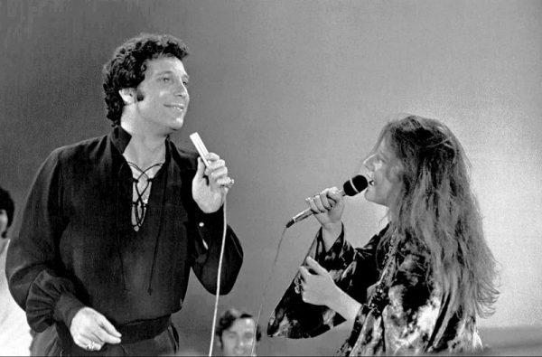 Janis Joplin z Tomem Jonesem w 1969 roku.