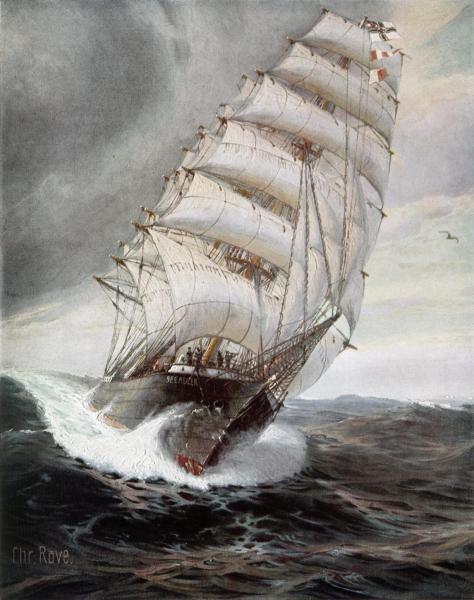 SMS Seeadler od frontu.