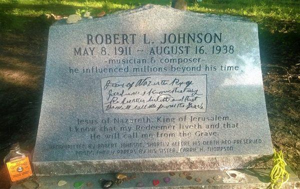 Jeden z trzech nagrobków Johnsona