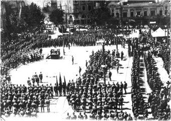 Parada Armii Czerwonej w Tbilisi 25 lutego 1921 roku