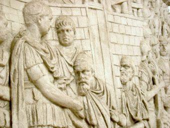 Przyjęcie poddaństwa Daków przez cesarza Trajana