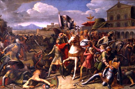 W 1155 roku król niemiecki i późniejszy cesarz rzymski Fryderyk Barbarossa ze swymi wojami ruszył na południe, do Italii, by tam spacyfikować niepokorne miasta i narzucić im panowanie cesarstwa.