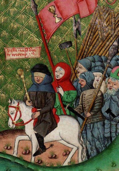 Dzięki pomysłowości oraz paradoksalnie dalekowzroczności na wpół niewidomego dowódcy Jana Žižki czescy protestanci mogli przez długie lata odpierać wyprawy krzyżowe Zygmunta Luksemburskiego i organizować udane rejzy na jego ziemie.