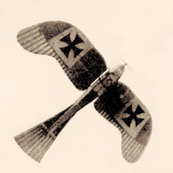 1 listopada 1911 roku por. Giulio Gavotti, pilotując samolot Etrich Taube (który wyglądał dokładnie tak, jak się nazywał – Gołąb), zbombardował pozycje tureckie w oazach Tagiura i Ain Zara.