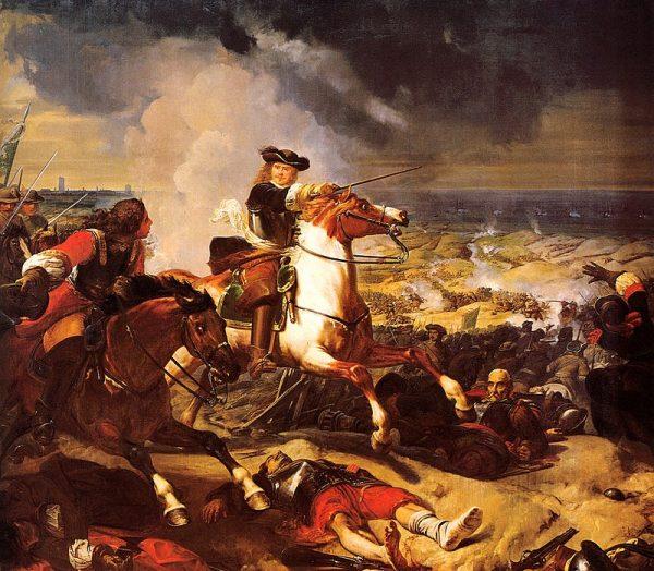 W czerwcu 1658 roku 6 tys. żołnierzy Armii Nowego Wzoru Olivera Cromwella wspieranych przez 18 okrętów floty Parlamentu dołączyło do kilkunastotysięcznych sił francuskich dowodzonych przez słynnego marszałka Francji Henri de Turenne'a.