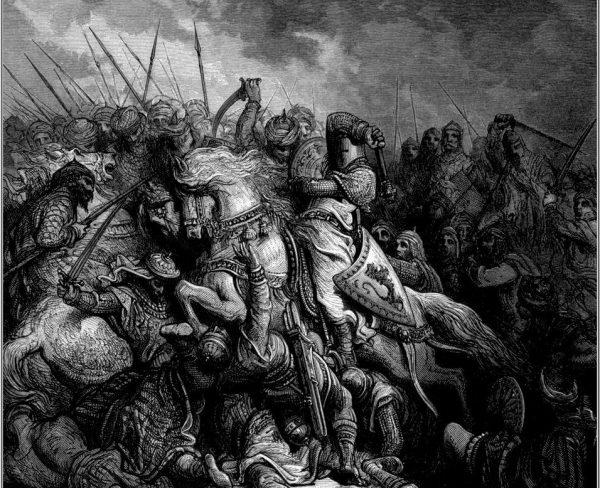 Podczas trzeciej krucjaty w 1189 roku król Francji Filip II Dobry oraz angielski władca Ryszard I Lwie Serce zakopali topór wojenny