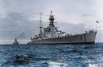 """HMS """"Hood"""" był dumą i legendą Royal Navy, największym krążownikiem liniowym, jaki posiadała Wielka Brytania."""