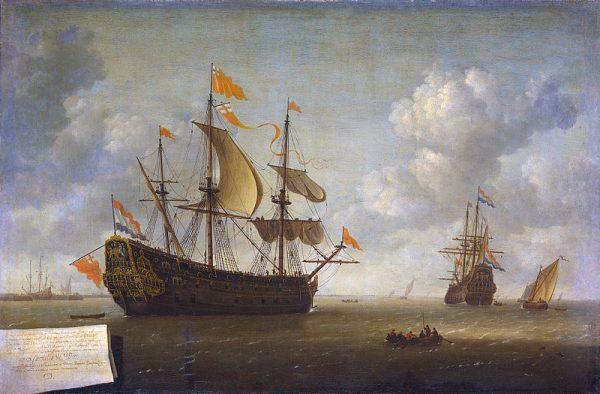 HMS Royal Charles zdobyty przez Holendrów po rajdzie na Medway