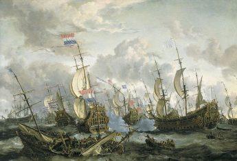 Pędząca ku bazie królewskiej floty w Chatham holenderska eskadra adm. Michiela de Ruytera była absolutnym zaskoczeniem dla Albionu.