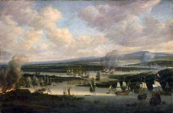 Nosząca od końca XVI wieku zaszczytne miano Royal Dockyard baza królewskiej marynarki w Chatham u ujścia rzeki Medway do Tamizy zdawała się bezpiecznym azylem dla okrętów.