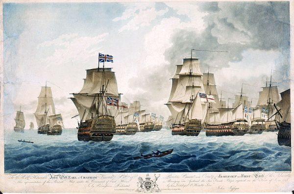 Francuzi byli jednak świadomi zagrożenia ze strony angielskiej floty.