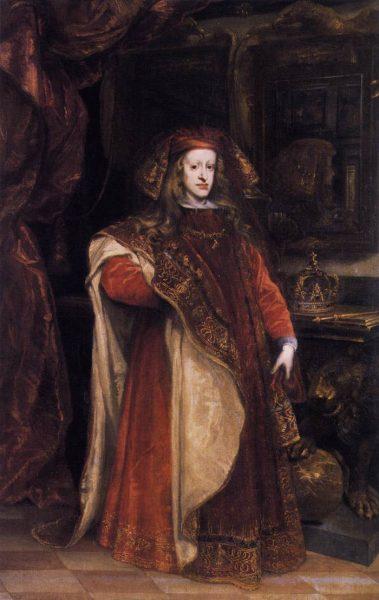 Tuż przed śmiercią schorowany Karol II wyznaczył na swego jedynego spadkobiercę wnuka francuskiego władcy, ks. Filipa d' Anjou.