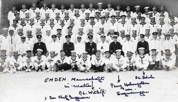 Załoga SMS Emden na Malcie