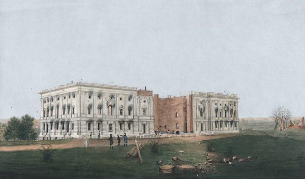 Kapitol po pożarze Waszyngtonu