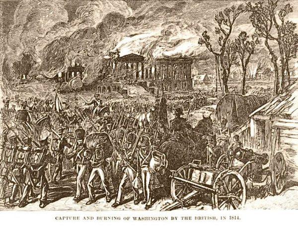 Płonący Waszyngton