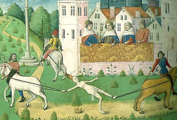 Jej ciało zostało dosłownie poszatkowane na strzępy. To jednak nie wystarczyło frankijskiemu władcy – rozkazał spalić to, co pozostało ze szczątków Brunhildy i zakazał pogrzebu.